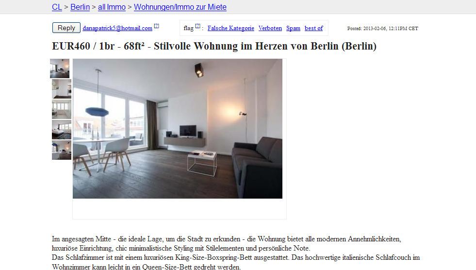 Craigslist De Apartments