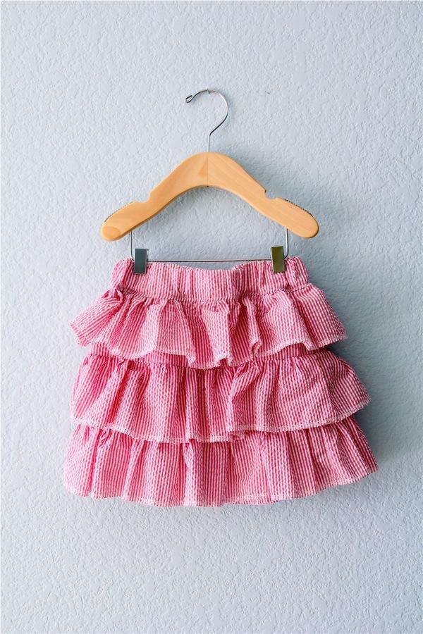 ruffled seersucker skirt – MADE EVERYDAY