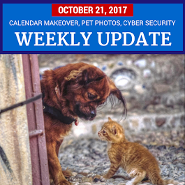 Weekly Update - October 21, 2017: Google Calendar Makeover, Google Photos Pet Face Recognition, Advanced Account Security