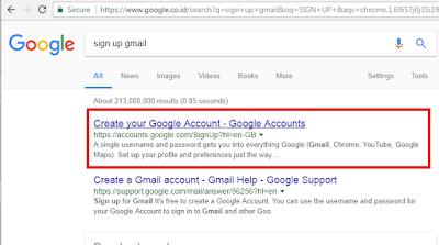 tahap 1 panduan membuat akun gmail cepat