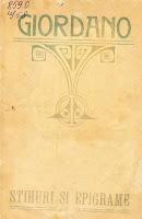 coperta carte Giordano. Stihuri şi epigrame