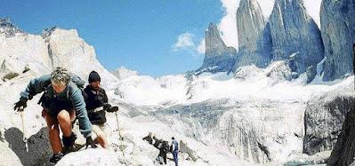 Adventure Tourism in Parque Nacional Torres del Paine, Chilean Patagonia.