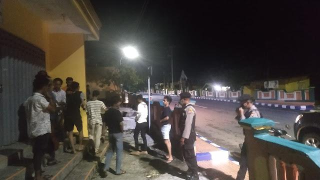 Polisi Lakukan Patroli Sabhara Membubarkan Massa yang Berkerumun di Tual dan Langgur