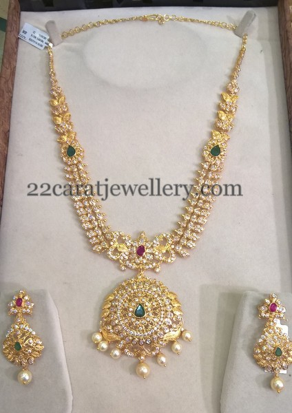 Gold necklace designs in 80 grams