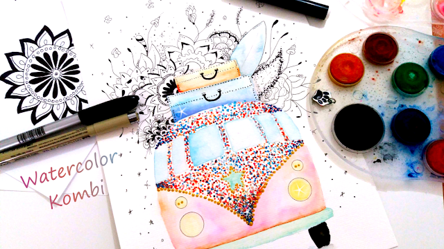 Kombi Ink and Watercolor Painting Time-Lapse