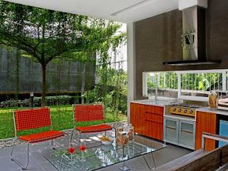 Dapur ukuran 1 5 x 2 menghadap ruang terbuka