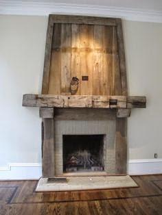 Barnwood Fireplace Surround