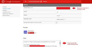 Cara mudah menambahkan tombol berlangganan channel youtube diblog