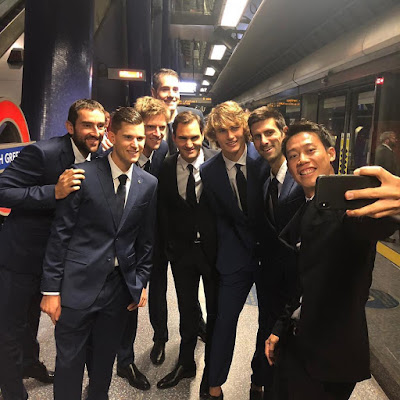 Top 8 ranked Tennis Players in the world looking Dapper in suits as they are set for action at the London NittoATPFinals starting today