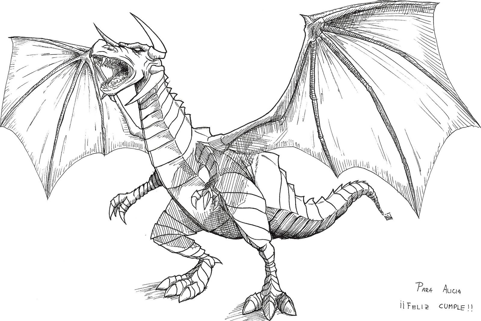 Dragones Feroces Para Colorear: Umi-Kai