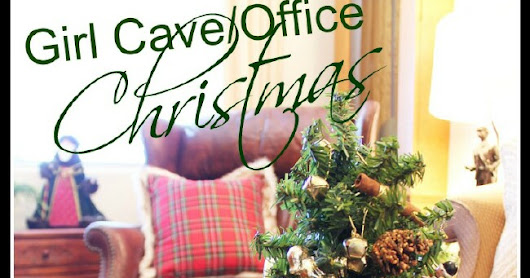 Girl Cave/Office Christmas Decor & A Giveaway