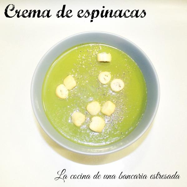 Receta de crema de espinacas, con Thermomix y tradicional