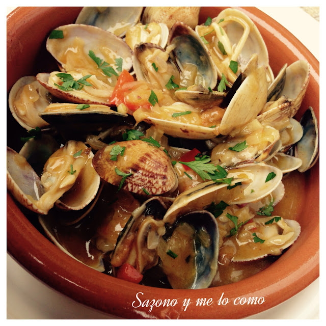 Almejas a la marinera-receta gallega