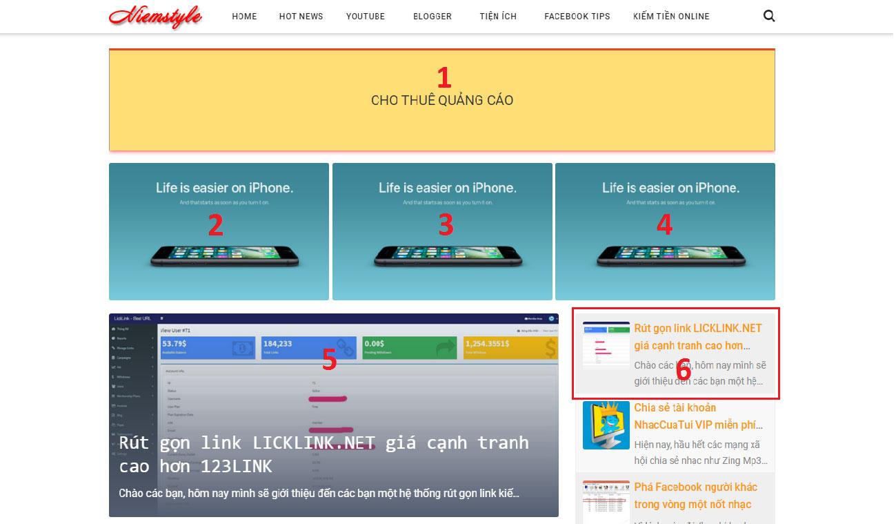 Niemstyle.com | Bảng giá quảng cáo và PR bài viết