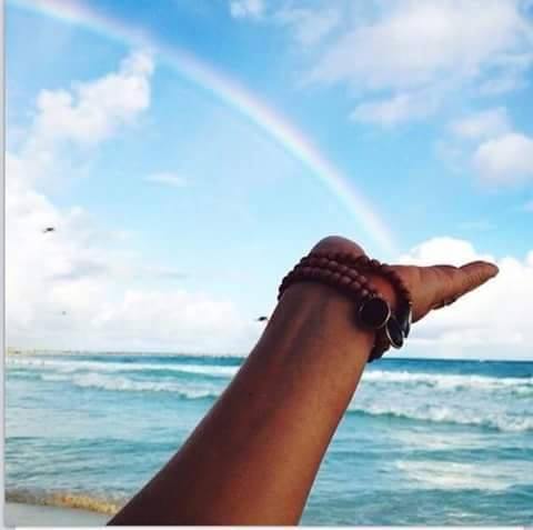 Reflexão Poesia Mar Arco-íris