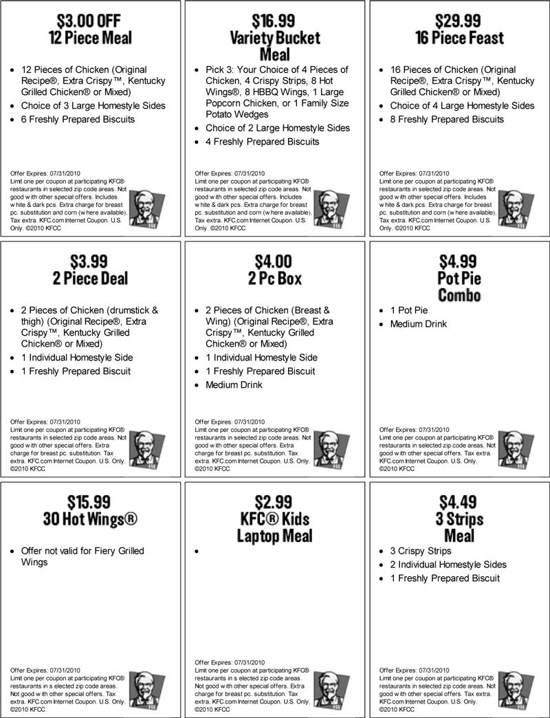 kfc coupons 2015 sydney - photo#5