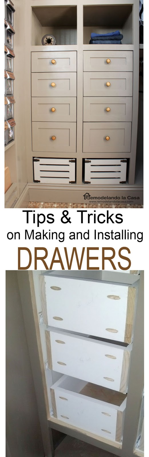how to make and install drawers
