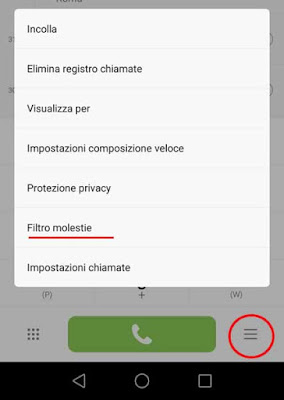 Come usare il filtro molestie di Android