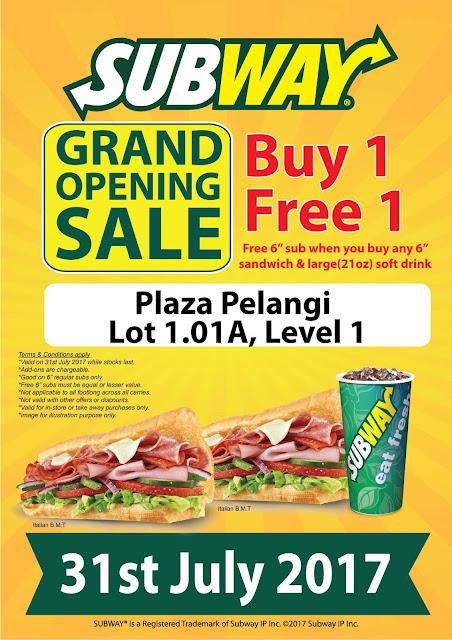 Subway Malaysia Buy One Free One Promo