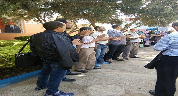 آيت ملول: أساتذة أكدال ينظمون وقفة احتجاجية