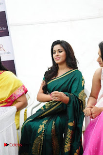 Actress Poorna Latest Pictures in Green Saree at SR Fashion Studio Launch  0009.jpg