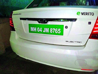 Green Number Plates Mandated on all Electric Vehicles