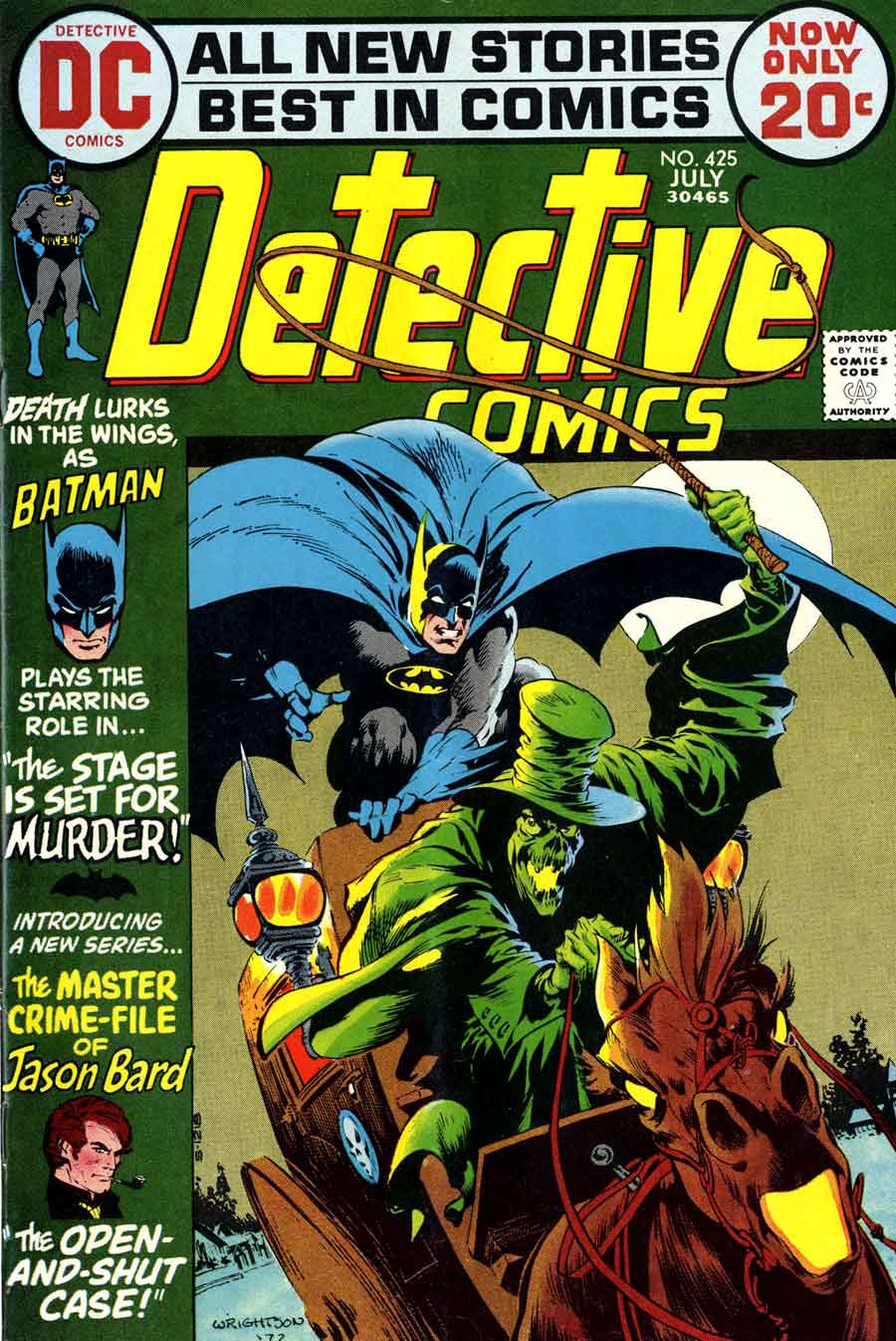 Detective Comics #425 dc Batman comic book cover art by Bernie Wrightson