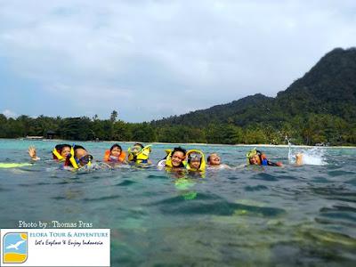gallery foto snorkeling di pulau pahawang