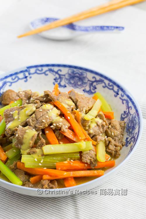 芥末牛肉 Beef Stir Fry with Mustard Sauce02