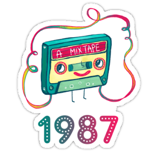 1987 Mixtape Sticker