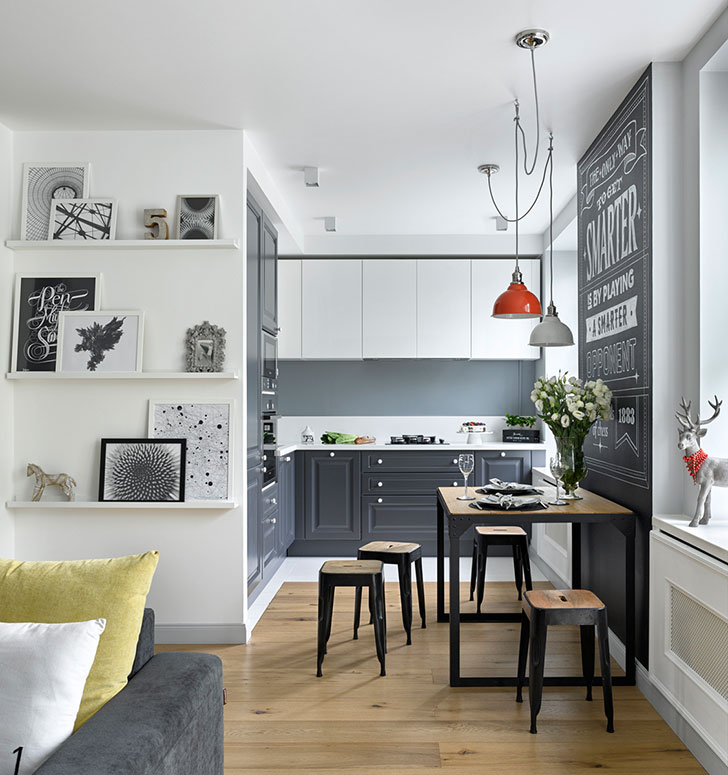 Decordemon Industrial Style Flat In A Victorian Terrace: Decordemon: Scandi Style Apartment In Moscow With A Splash