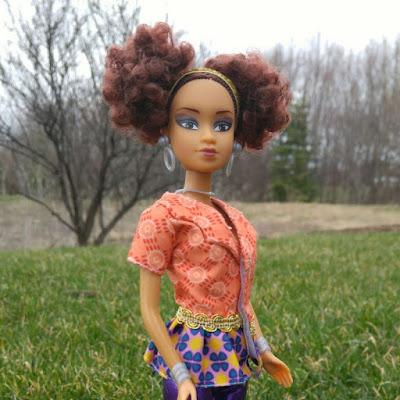 Кукла как барби афро-американка Королевы Африки