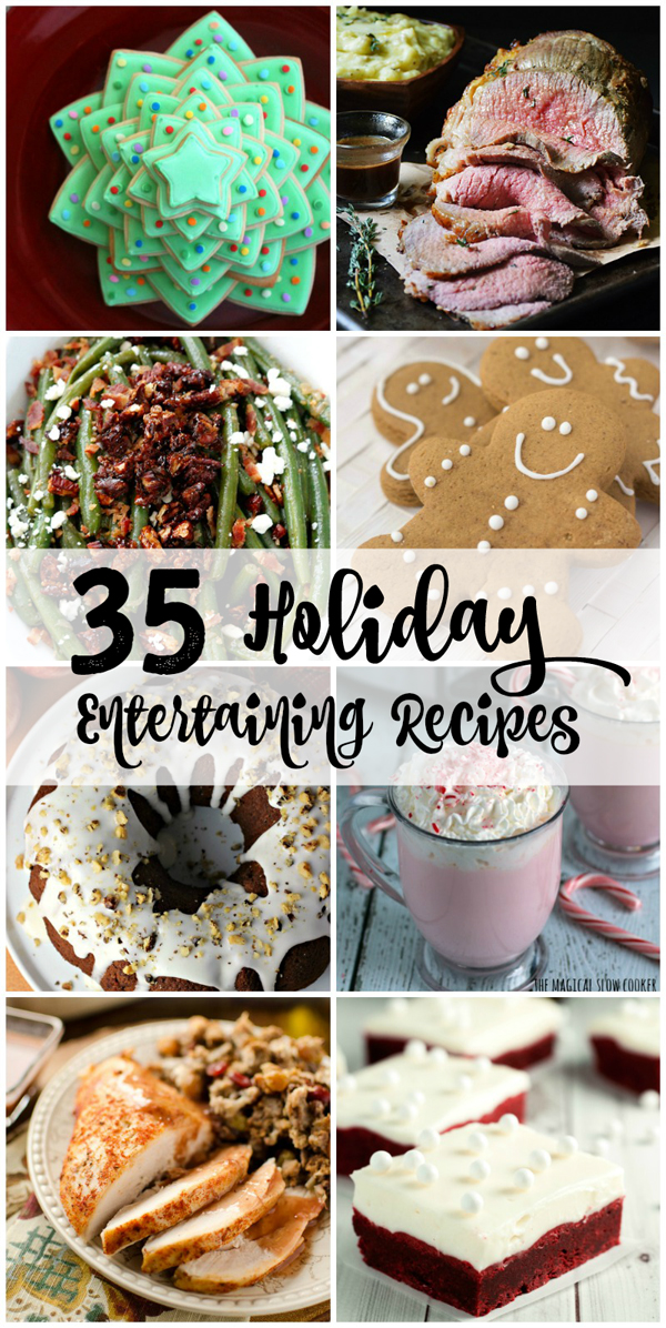 35 of the BEST Holiday Recipes all in one place to help you host the best parties this holiday season! #Giveaway