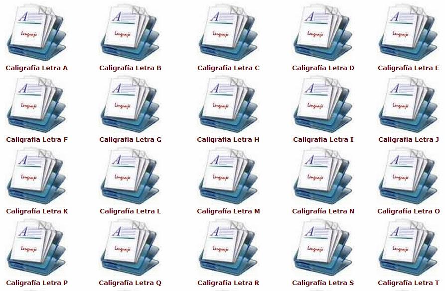 CALIGRAFÍA: Fichas o plantillas para imprimir totalmente GRATIS ...