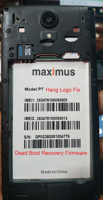 Maximus P7 Firmware Flash File