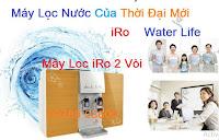 máy lọc nước Ro 2 vòi không bình áp tích hợp 2 vòi nóng nguội