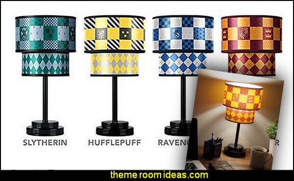 Harry Potter Quidditch Table Lamps  Harry potter themed bedrooms - Harry Potter Room Decor - Harry Potter Bedroom Ideas - Harry Potter  bedding - Harry Potter wall decals - Harry Potter wall murals - harry potter furniture - harry potter party supplies - castle decorating props - harry potter party decorations - Magical Hogwarts House Theme