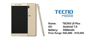 Tecno L9 Plus price