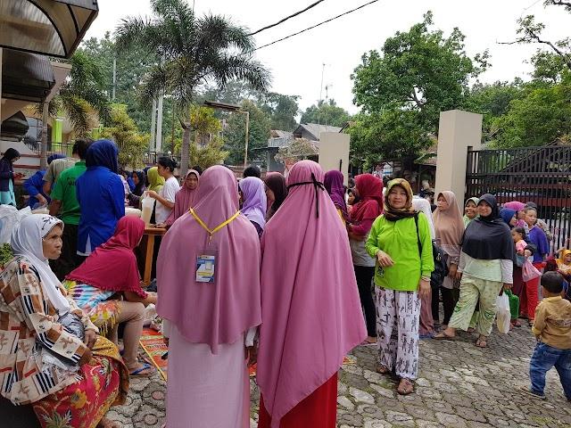 JPU Bersinergi Dengan Unisa dan Kadoku Gelar Bazar Sembako Murah dan Pakaian Layak Pakai Gratis