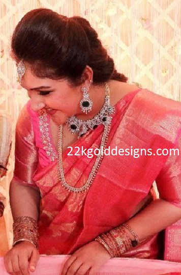 Sridevi Vijaykumar Jewellery at her Baby Cradle Ceremony