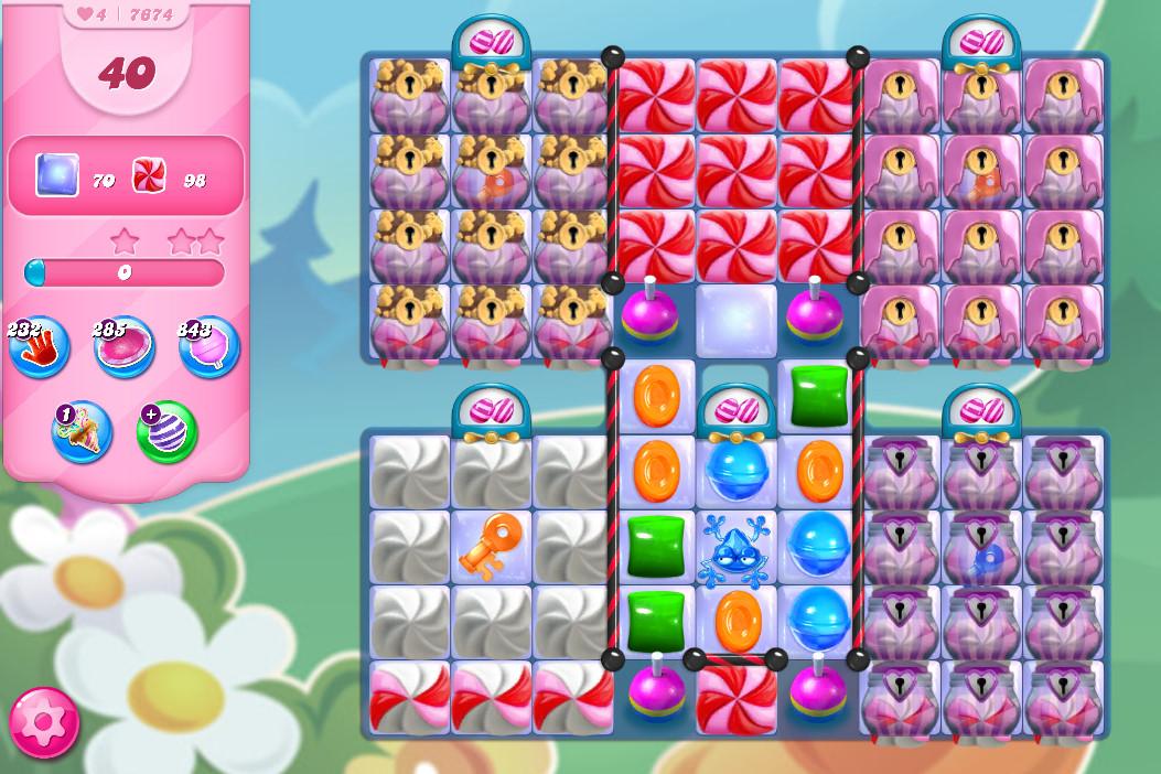 Candy Crush Saga level 7674