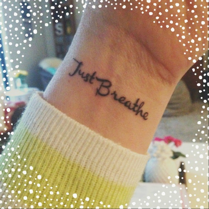 Just Breathe Lettering Tattoo On Wrist: A Few People Have Asked Me What Font I Used For My Tattoo