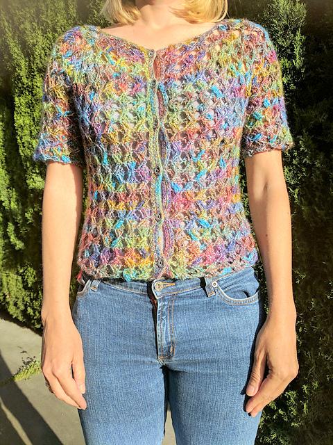 Short sleeve sweater top Crochet pattern