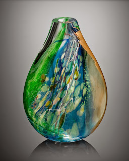 Contemporary art glass sculpture Madein USA