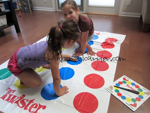 All little girls playing twister consider, that