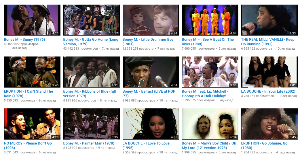 "09/10/2018 Boney M. ""Sunny"" - more than 45.000.000 views FFFclub_2018-10-09"