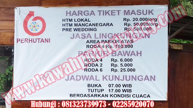 Beli tiket kawah putih online dari wonogiri