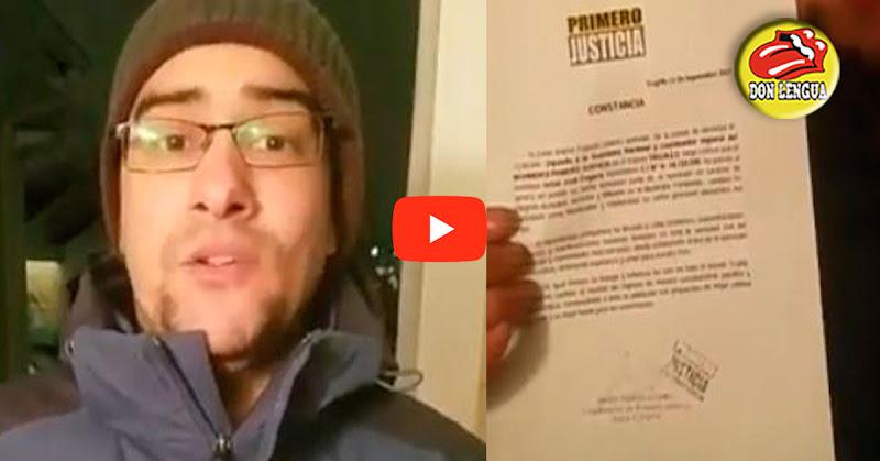 Dirigente estudiantil exiliado en el exterior denunció que el PPT lo inscribió como candidato