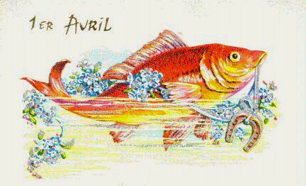 carte postale ancienne 1er avril