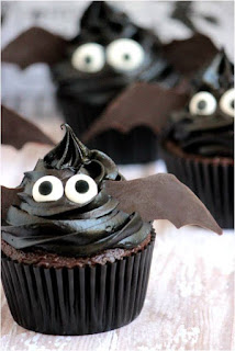 Death by chocolate bat cupcake